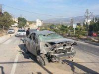 Mut'ta otomobil takla attı: 2 yaralı