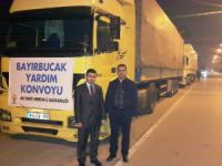 Ak Parti'nin yardım tırları Bayırbucak Türkmenleri için yola çıktı
