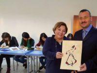 Erdemli'de üniversiteli kızlar minyatür sergisine hazırlanıyor