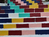 Silifke merdivenleri rengârenk