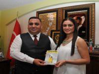 Karacaoğlan Şiir Akşamları'na Katılan Sanatçılar Başkan Can'ı Ziyaret Etti