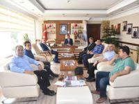 Mersin Büyükşehir Belediyesi Fen İşleri Daire Başkanı Hasan Gubaroğlu'ndan Başkan Türe'ye Ziyaret