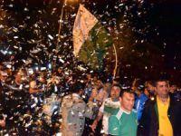 Şampiyon Anamur Belediyespor, krallar gibi karşılandı