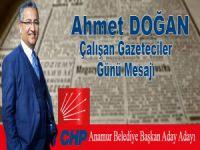 Ahmet Doğan Gazeteciler Günü Mesajı