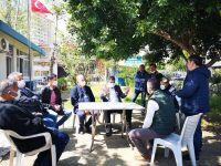 CHP EKİBİ ESNAFIN  ve MUHTARLARIN SORUNLARINI DİNLEDİ